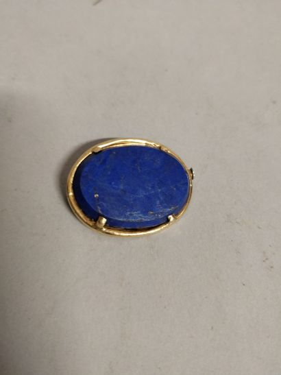 Broche lapis lazuli  2,5 x 2 cm  Lot vendu...