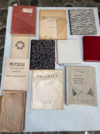 Lot de volumes divers dont  Fautrier , uvres...
