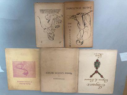3 catalogues de ventes :  - Succession Gaston...