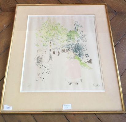 Edouard VUILLARD-Dans le parc-Lithographie...