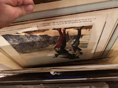 3 Cartons à dessins contenant diverses estampes,...