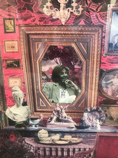 Deux montages photo autour du portrait de Gisèle Halimi. Dim. : 30 x 22,5 cm. On...