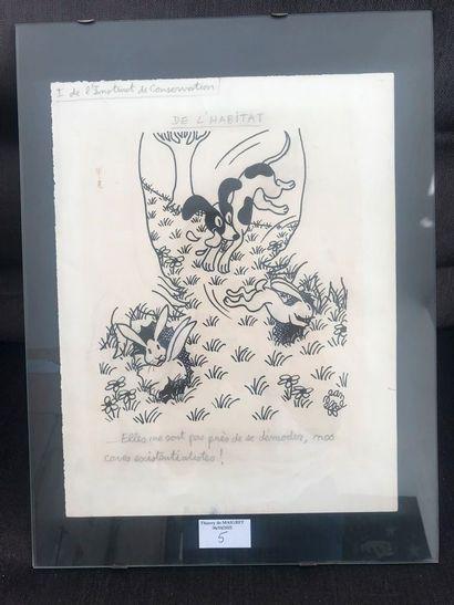 Jean Effel. ''L'instinct de conservation...