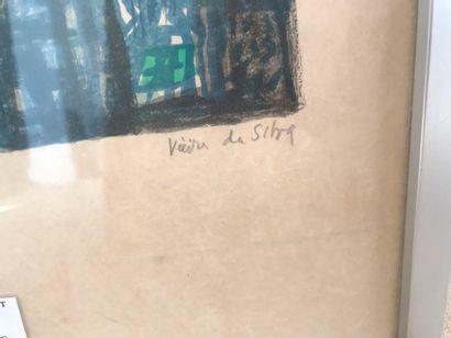 Maria Elena VIEIRA DA SILVA (1908 - 1992). Plombs – Faïence. 1971. Deux lithographies...