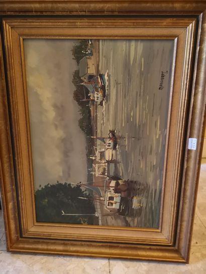 MARGUERAY XXème    Honfleur retour de pêche...
