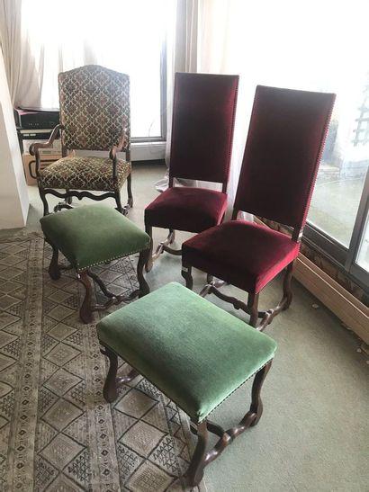 Mobilier de style Louis XIII : fauteuil H...