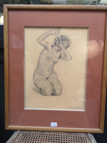 Ecole XXème    Deux études de nus féminins...