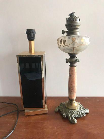 Lampe des années 80. Haut.: 43 cm . Lampe...
