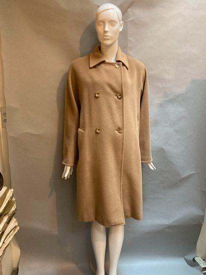 MAX MARA. Manteau mi-long en laine et cachemire...