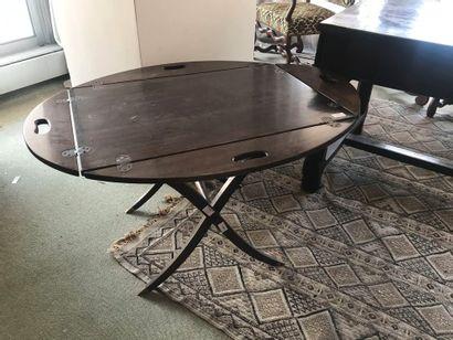 Table basse de marine en bois vernis, style...