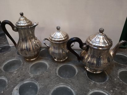 Service à thé et café, corps à cotes de...