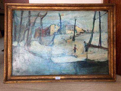 Piero GARINO (1922-2009). Paysage d'hiver....