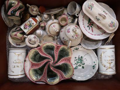 Mannette de porcelaine et faïence comprenant...
