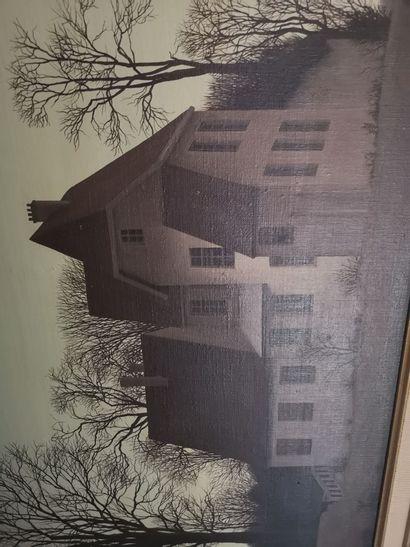 Ecole XXème siècle    Maison au crépuscule...