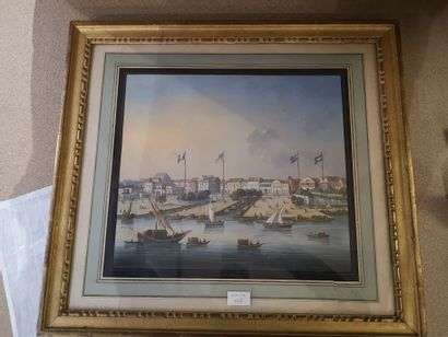 Vue de Canton    Gouache et aquarelle    Dim.:...