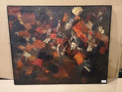 Composition moderne    Huile et acrylique...