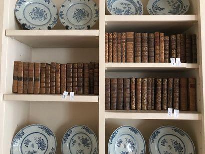 Ensemble de livres reliés, dépareillés  XVIIIe...