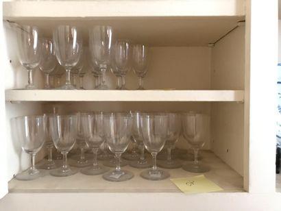 BACCARAT  Service de verres à pieds  Lot...