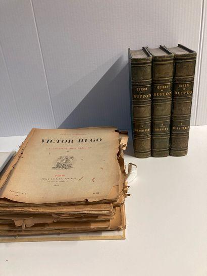 Buffon : 3 volumes reliés illustrés  + ouvrage...