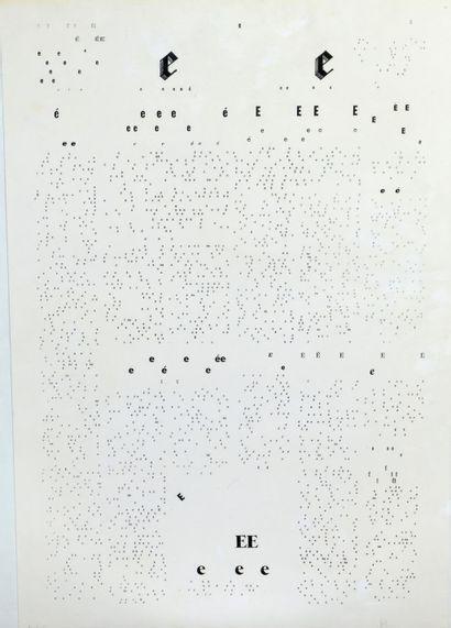 Ecole Moderne XXe - -Lettre E - Lithographie...