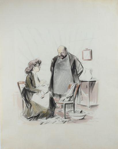 Jean-Louis FORAIN (1852 - 1931) - Visite...