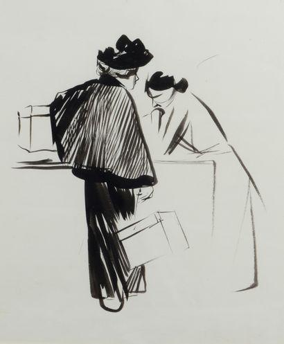 Jean-Louis FORAIN (1852 - 1931) - Au comptoir...