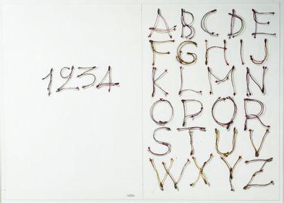 Henri CUECO (1929 - 2017) - Alphabet cerises,...