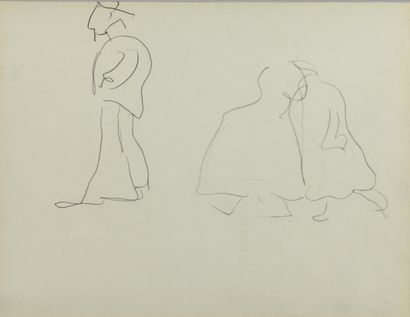 Albert MARQUET (1875 -1947) - Trois personnages...