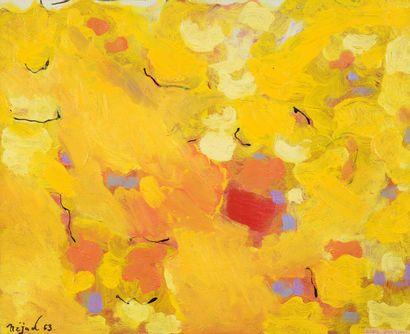 Nejad DEVRIM (1923 -1995) Soleil jaune...