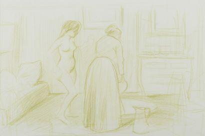 Jean-Louis FORAIN (1852 - 1931) - Le tub...
