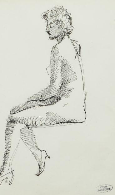 André DERAIN (1880 - 1954) - Nu assis - Nu...