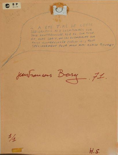 Jean-François BORY (né en 1938) - Statue de la Liberté, 1971. - Sérigraphie sur...
