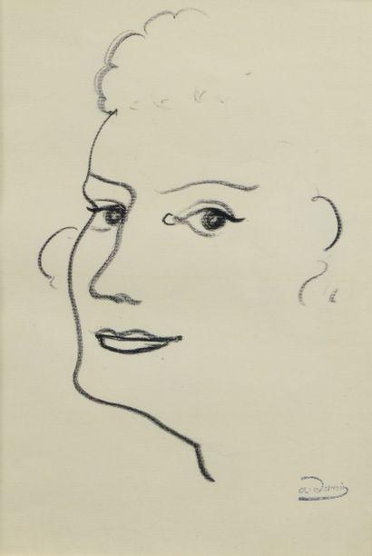 André DERAIN (1880 - 1954) - Visage tourné...