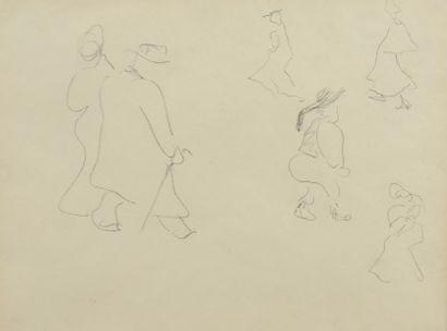 Albert MARQUET (1875 -1947) - Six personnages...
