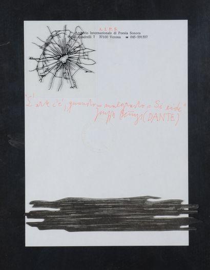 Joseph BEUYS (1921 - 1986) - Dante - Technique...