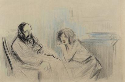 Jean-Louis FORAIN (1852 - 1931) - La supplique...