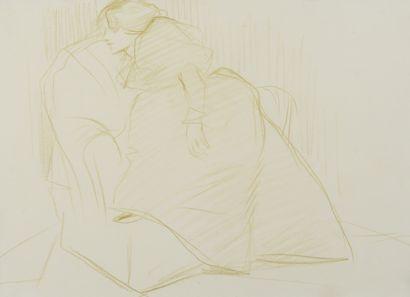 Jean-Louis FORAIN (1852 - 1931) - Femme assise...