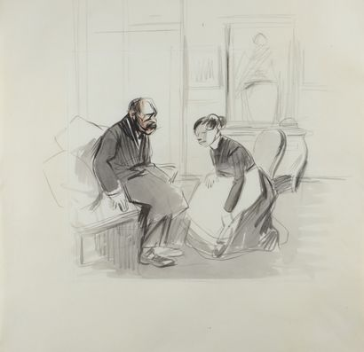 Jean-Louis FORAIN (1852 - 1931) - La servante...