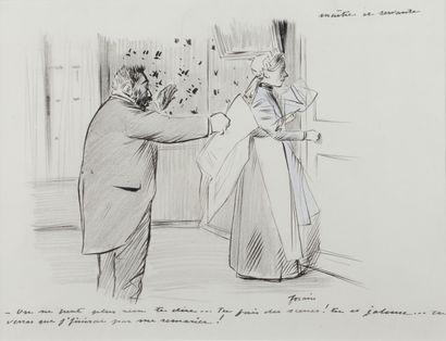 Jean-Louis FORAIN (1852 - 1931) - On ne peut...
