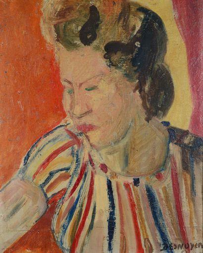 François DESNOYER (1894 -1972) - Portrait...