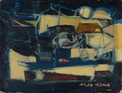Théo KERG (1909 - 1993) - Barques - Huile...
