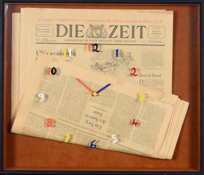 Bernard MELOIS (Né en 1939) - Die Zeit, 1988...