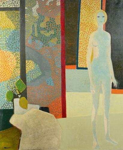 André MINAUX (1923 - 1986) - Fenêtre ouverte...