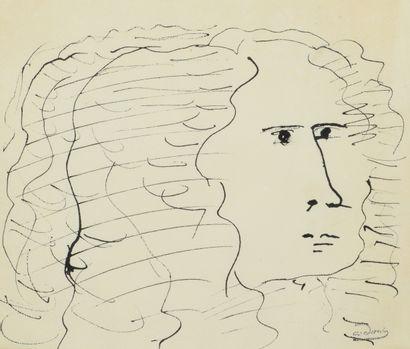 André DERAIN (1880 - 1954) - Etudes de visage...