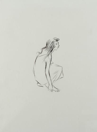 Jean-Louis FORAIN (1852 - 1931) - Jeune fille...
