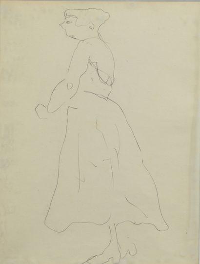 Albert MARQUET (1875 -1947) - Femme de profil...