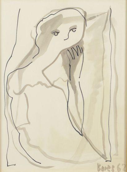 Francisco BORES (1898 - 1972) - Jeune femme...