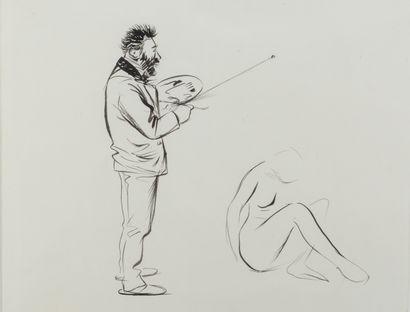 Jean-Louis FORAIN (1852 - 1931) - Le peintre...