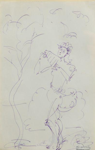 André DERAIN (1880 - 1954) - Le Dieu Pan...