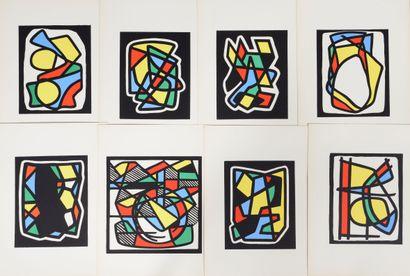 Emile LAHNER (1893 - 1980) - Formes. - Portfolio de 16 planches en couleurs composé...